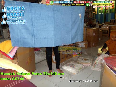 Handuk Natural Polos 70×140 Cm