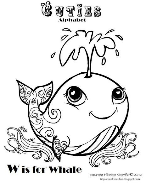 Cuties Whale Coloring Pages