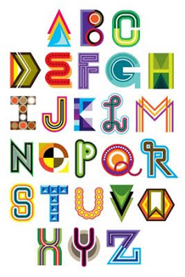 Graphic graffiti design & alphabet letter A-Z