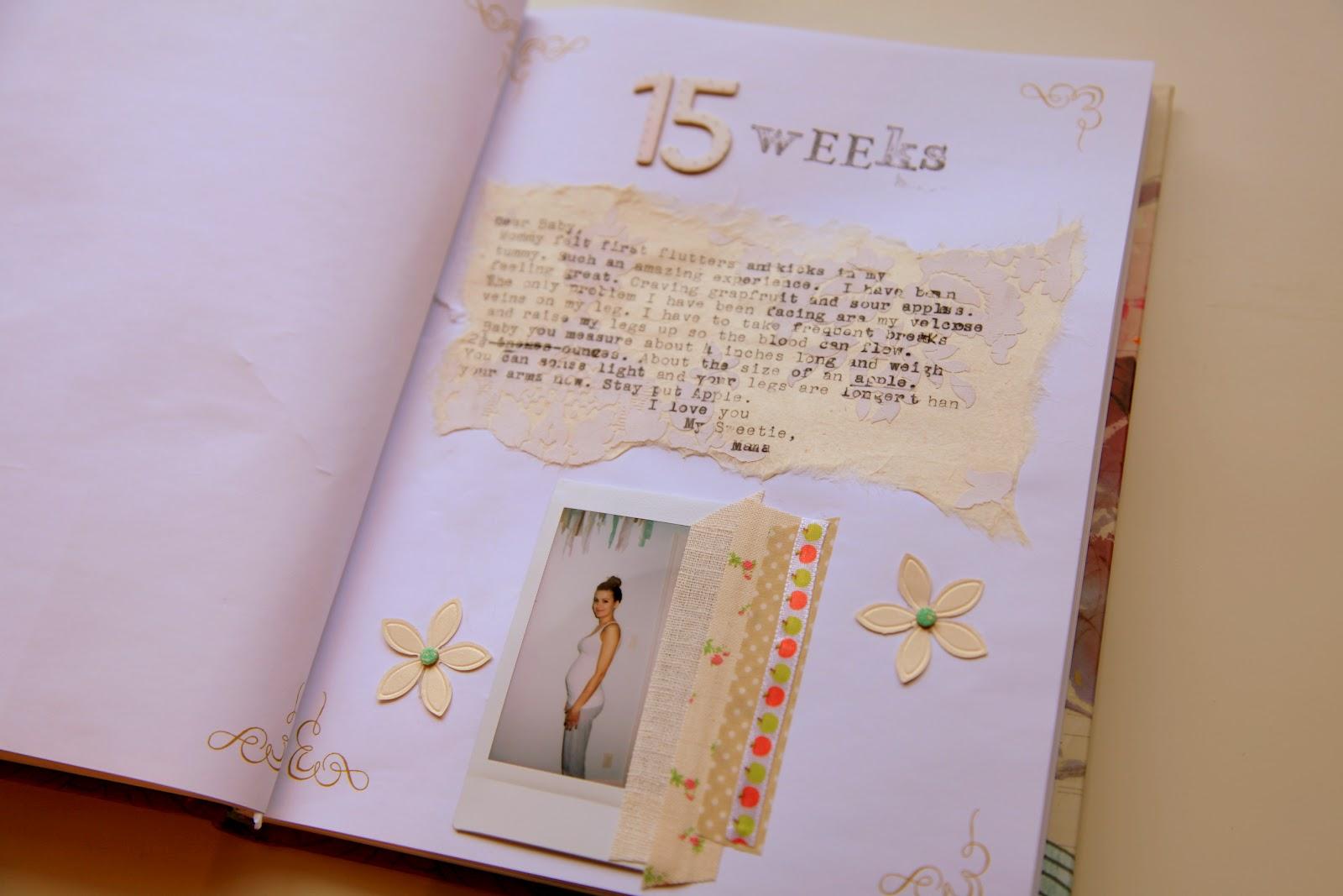Baby journal scrapbook ideas - Little Baby Big Love