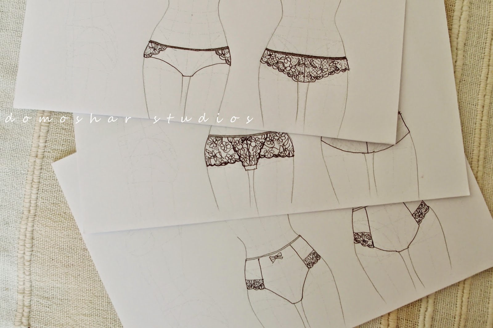 Lacy knickers plans on paper