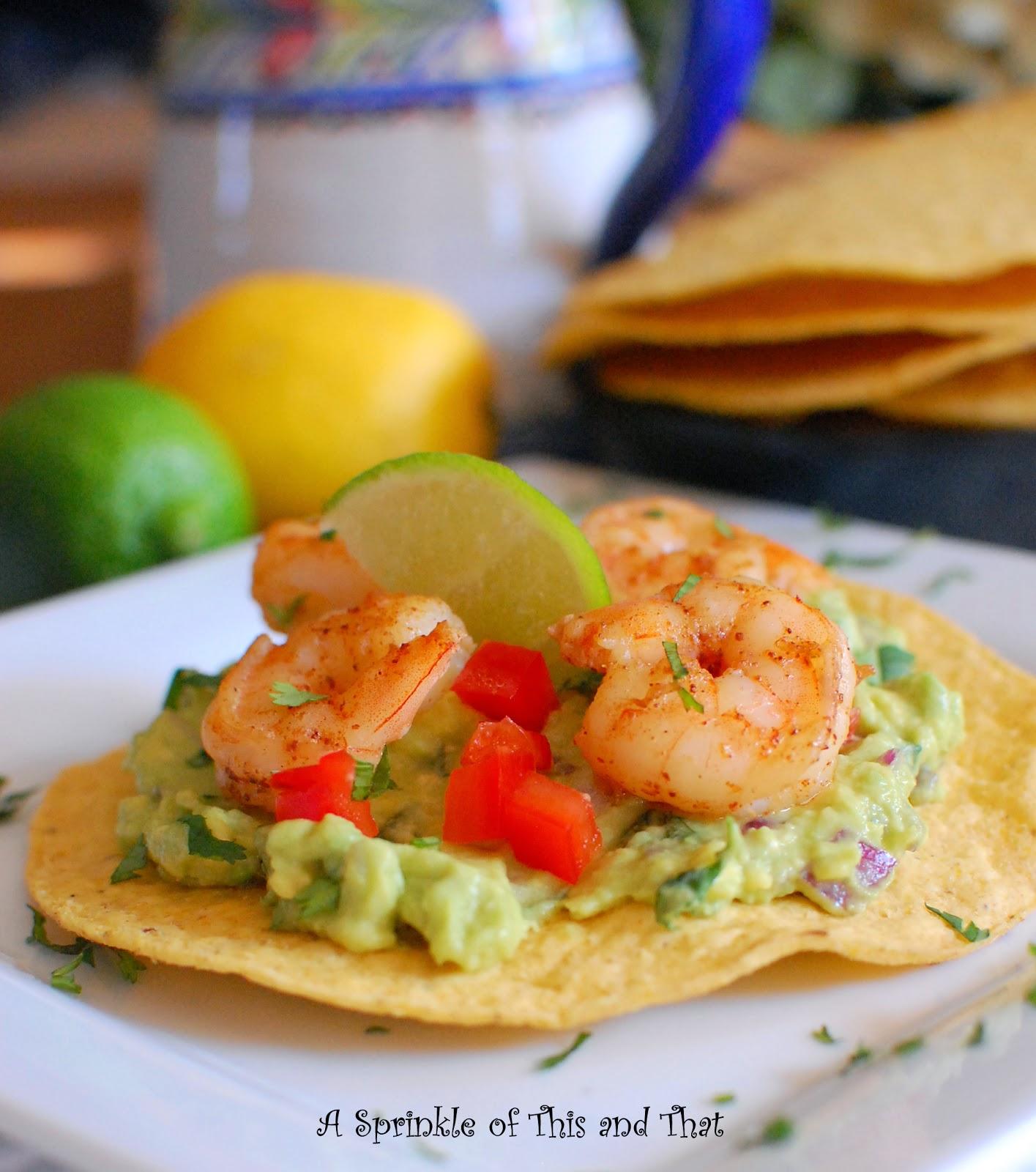 A Sprinkle of This and That: Shrimp Avocado Tostadas