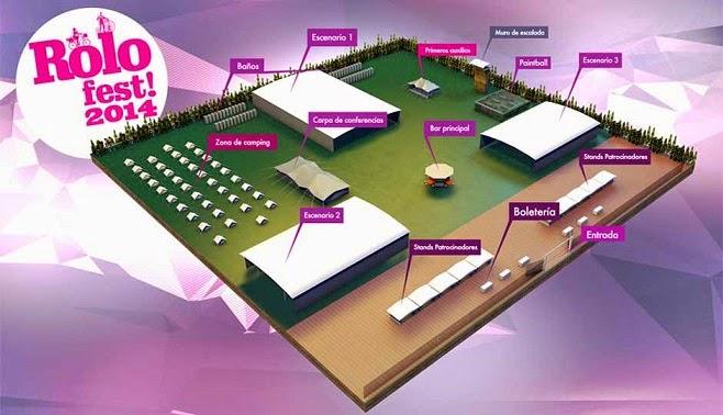 mapa Rolo Fest 2014