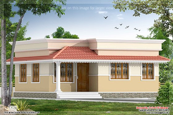 Eco friendly houses kerala style 2 bedroom small villa in for Small villa house plans