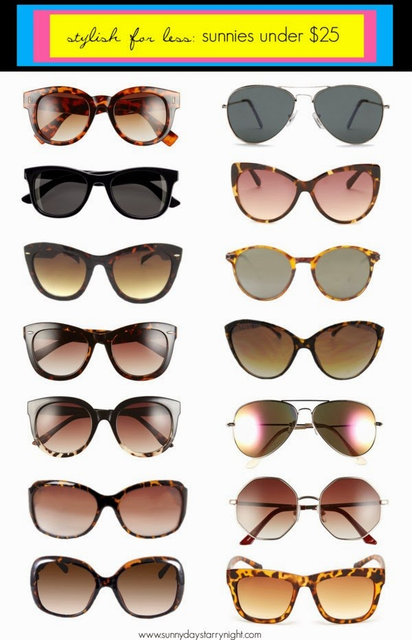 sunglasses under $25