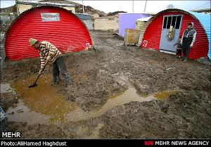 نمائی از خانه های ساخته شده دولتی برای مردم زلزله زده ارسباران