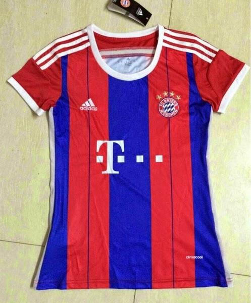 Baju Bola Munchen Home Ladies 14 15 - Baju Bola Online