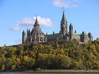[Parliament Hill from the Ottawa River]