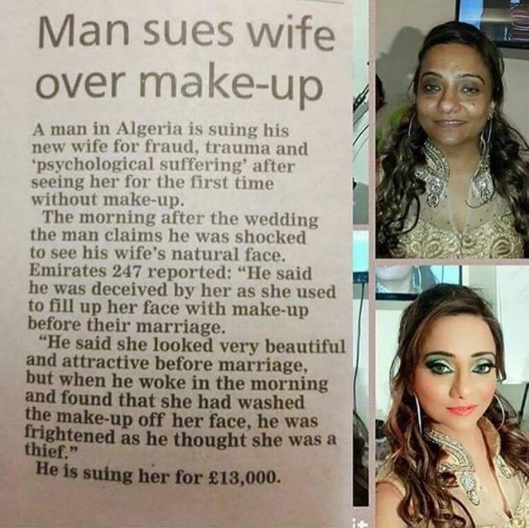 Dilemma Wanita, Disaman Kerana Kelihatan Cantik