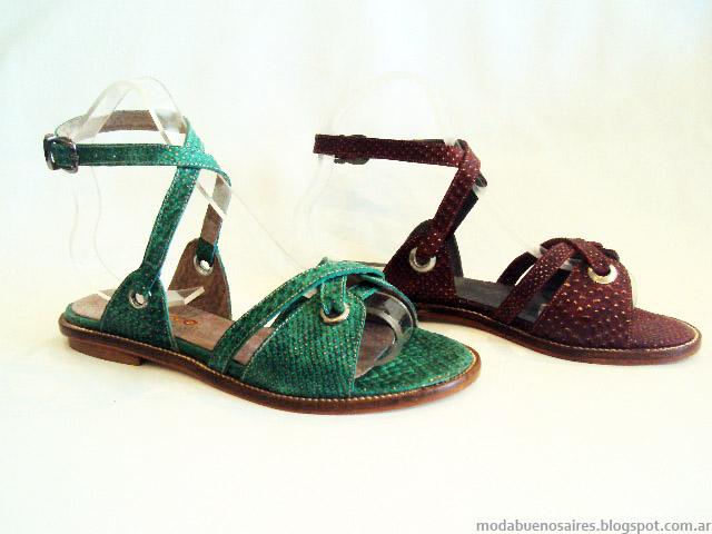 Sandalias bajas 2015 moda primavera verano 2015.