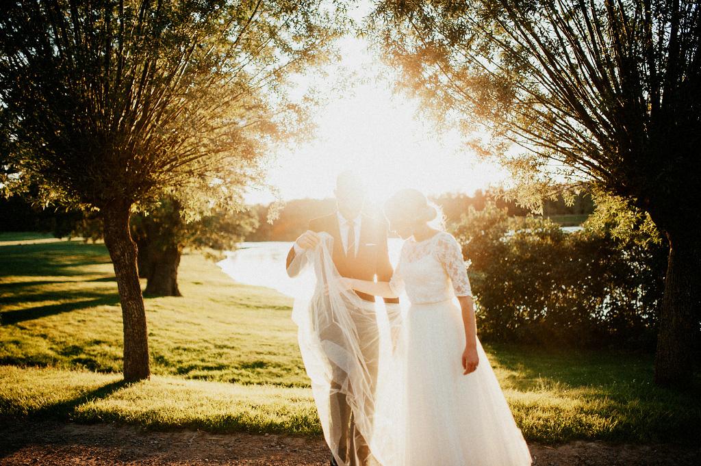 Bröllop i laholm solnedgång