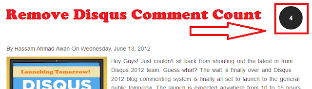 Disabling Disqus Comment Count
