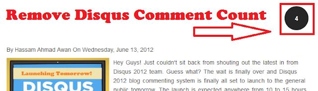 Disabling Disqus Comment Count