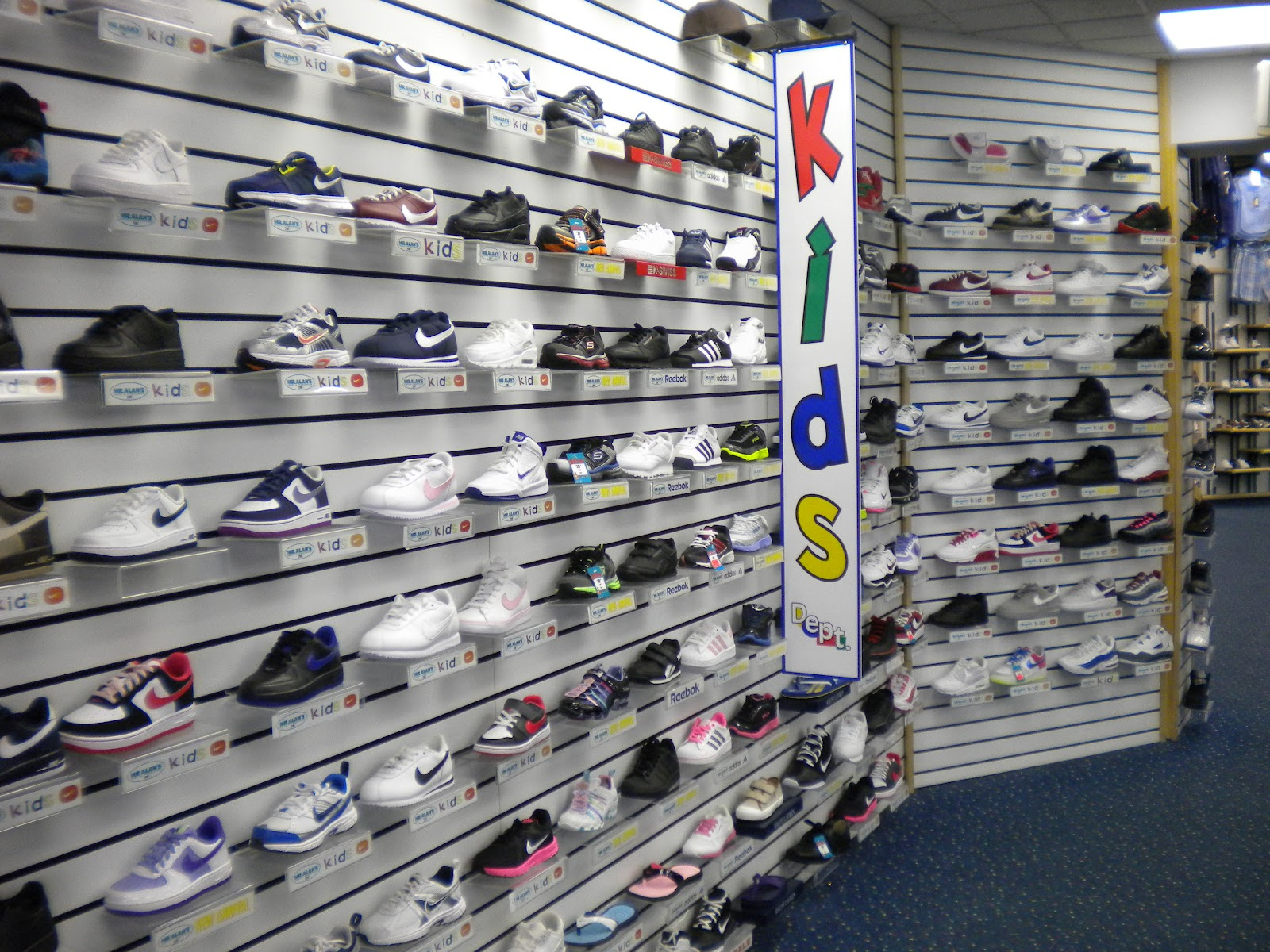 mr alan s since 1974 plenty of kid s athletic shoes at
