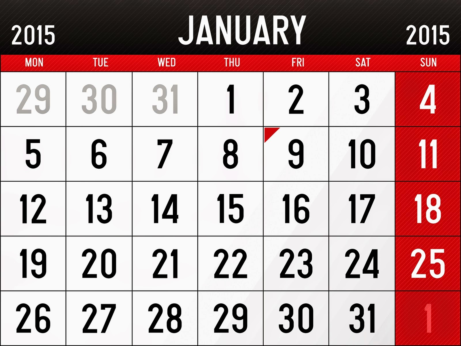 January Calendar 2015 With Holidays : Mobile price in pakistan and education update news