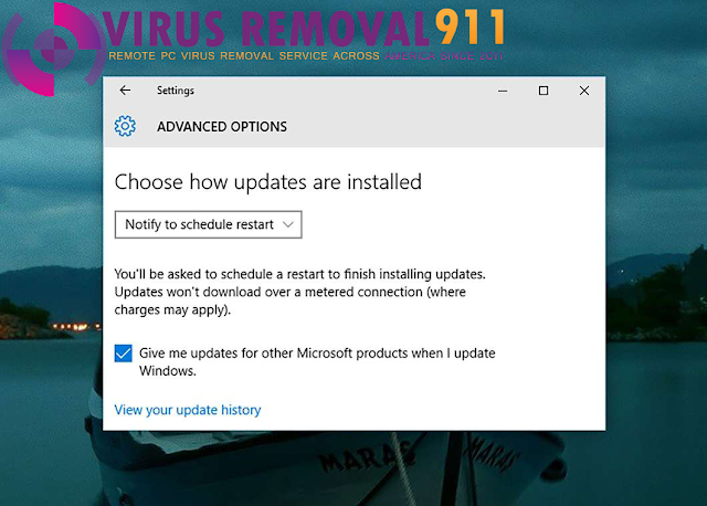 Control when Windows 10 installs the updates
