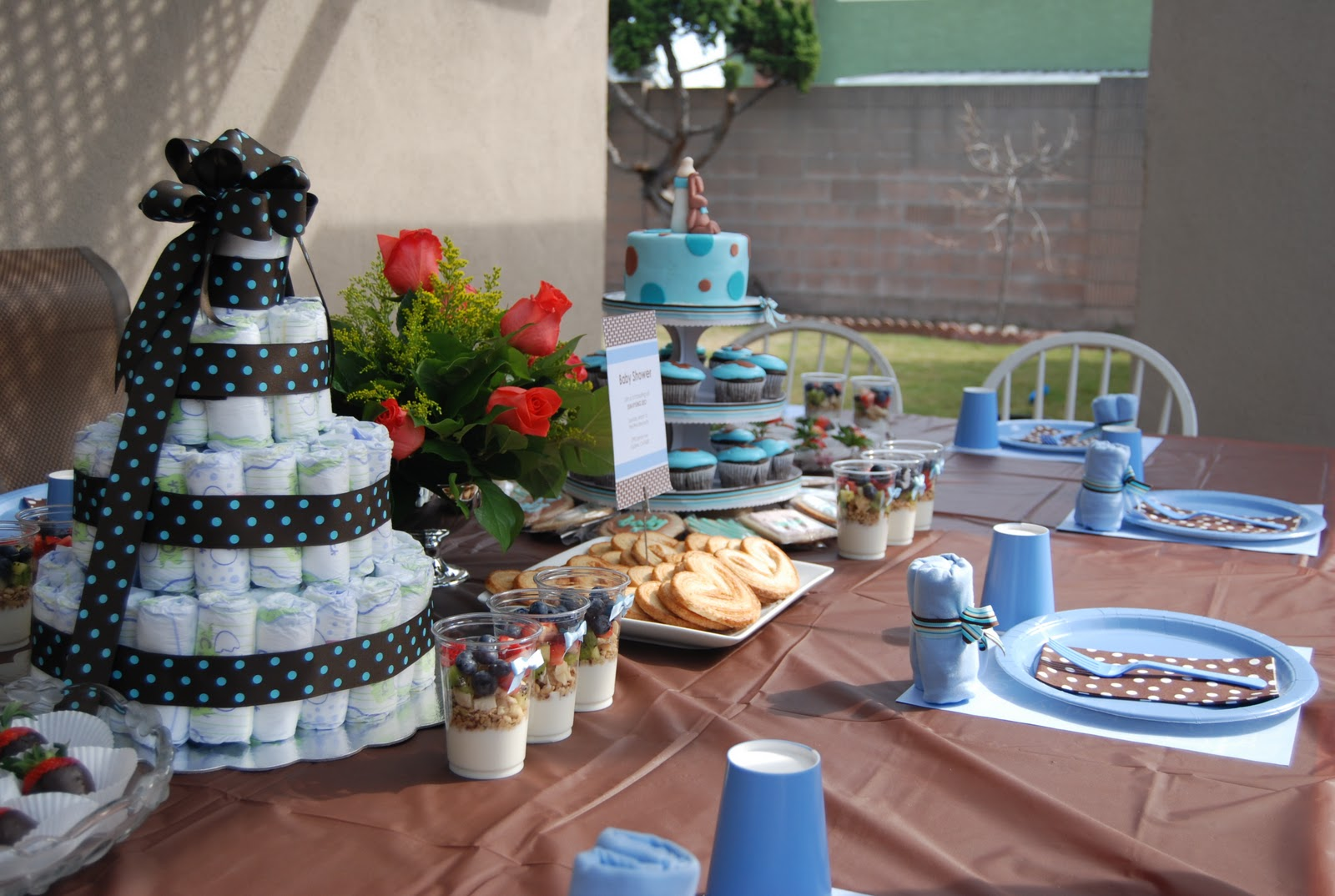 Dusty Rose Events Baby Shower Blue And Brown