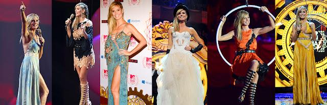 Heidi Klum sexy dresses at the MTV EMA
