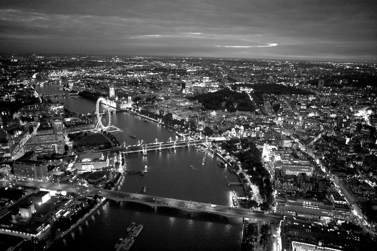 London city view Photo black and white