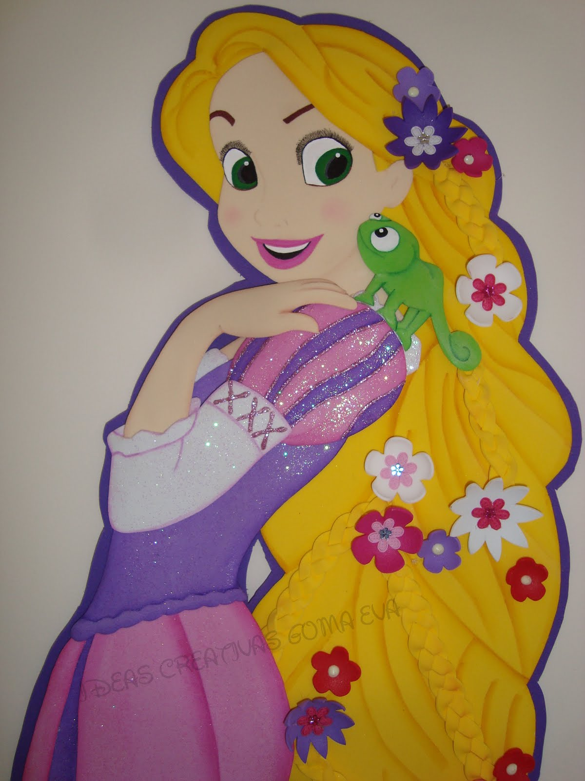 Aplique En Fomi Princesa Rapunzel Gracias A Adriana Del Taller De Nana