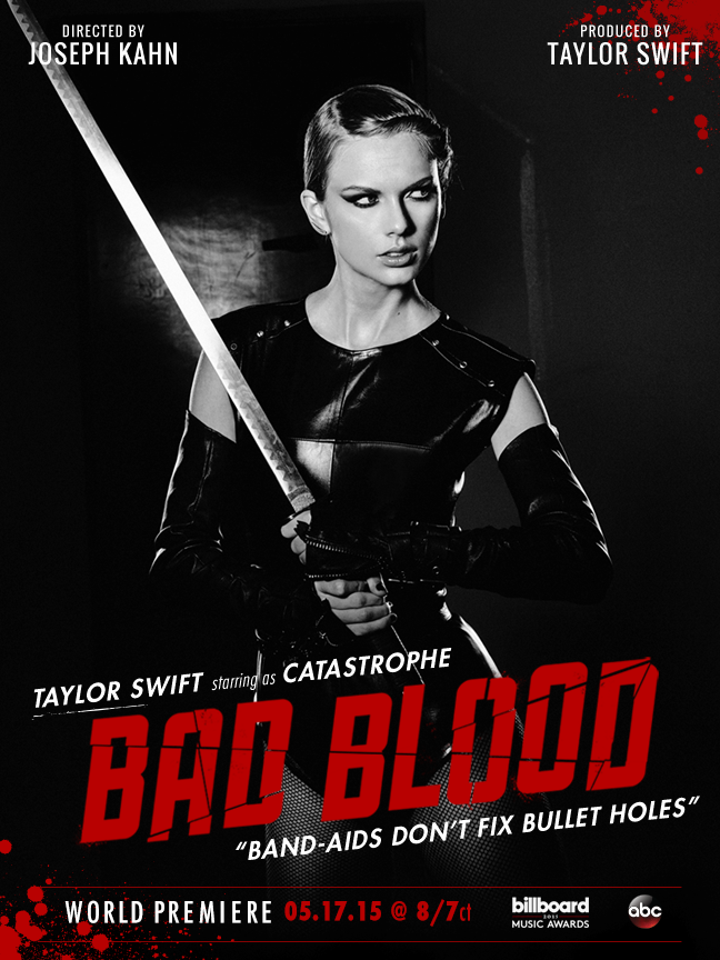 Taylor Swift Bad Blood melodie noua 2015 feat Kendrick Lamar noua piesa a lui Taylor Swift Bad Blood featuring Kendrick Lamar 2015 Official Video YOUTUBE noul videoclip Taylor Swift mai 2015 cel mai recent cantec Taylor Swift Bad Blood ft Kendrick Lamar 17 mai 2015 YOUTUBE VEVO original noul single HIT oficial Taylor Swift ultima piesa 17.05.2015 Bad Blood Taylor Swift cea mai noua melodie 2015 new video new single Taylor Swift melodii noi muzica noua ultimul HIT cantareata americanca Taylor Swift ultima melodie Bad Blood luni 18 mai 2015 noutati muzicale Taylor Swift Billboard Music Awards 2015 premiile muzicale