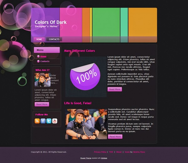 Colors Of Dark - Free Drupal Theme