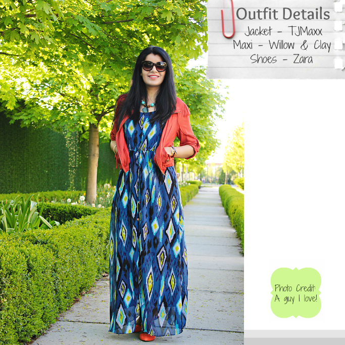 Ikat print maxi, How to style a maxi dress, Summer Outfit ideas