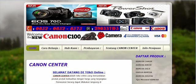 Review Toko Online Canon Data Center Penipu