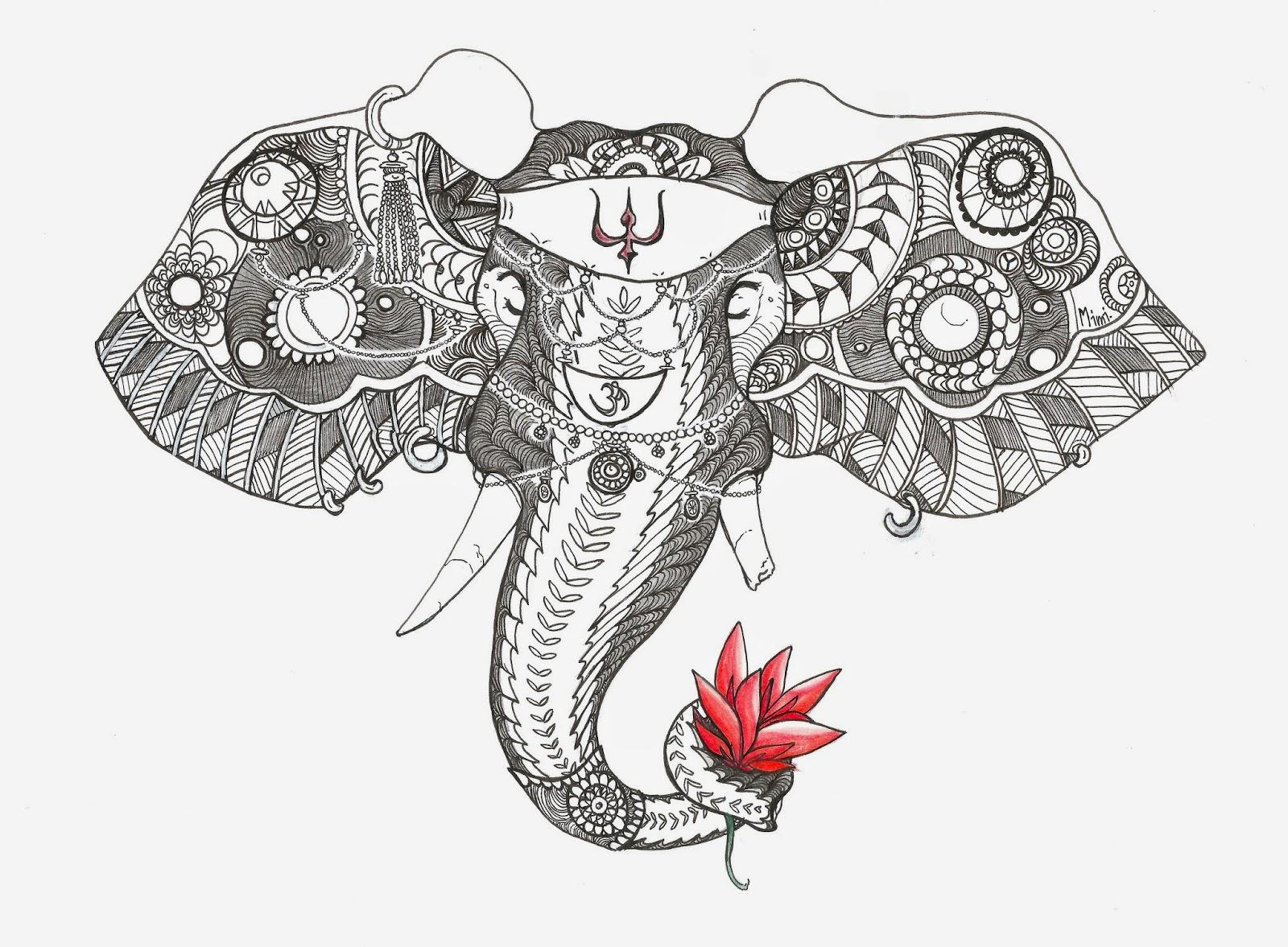 Mimidraw - Dessin d elephant ...