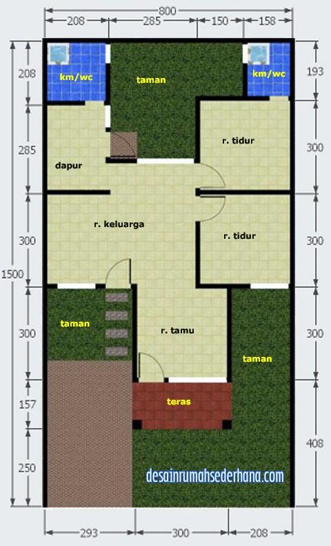 Koleksi Gambar Denah Rumah Dengan Luas Tanah Lebih Dari  M