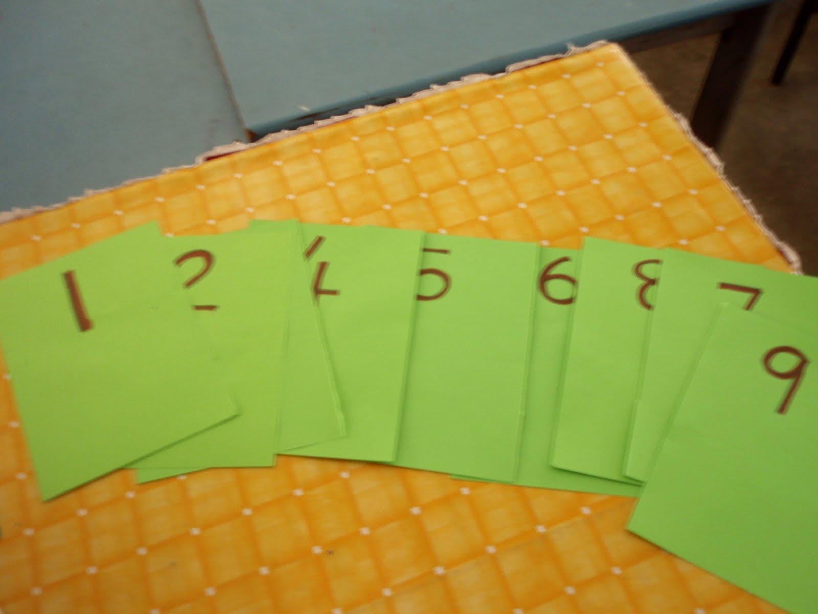 Mengenal Nombor 1-9 Tunjukkan Kad Nombor 1-9