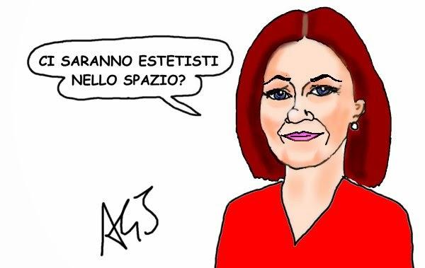 Alessandra Moretti, esa, ISS, futura42 , satira