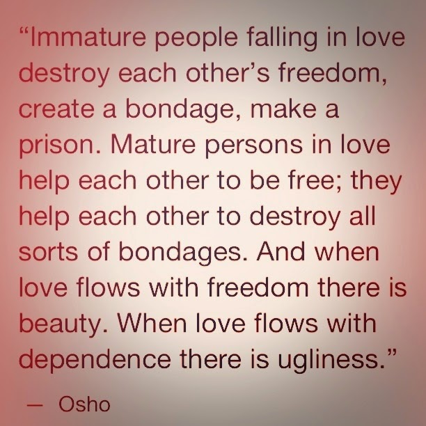 Attachment Love Osho quote
