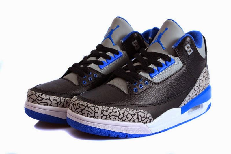 2014-2015 Retro Jordans For Sale: Retro Jordans 3 Sport Blue Cheap