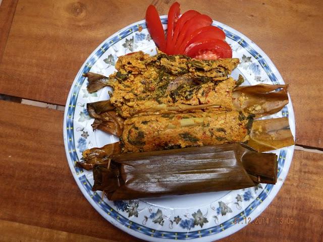 resep pepes ikan asin peda merah