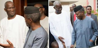 Vice-President  Osinbajo Visits Fashola at Lagos Home(Photos)