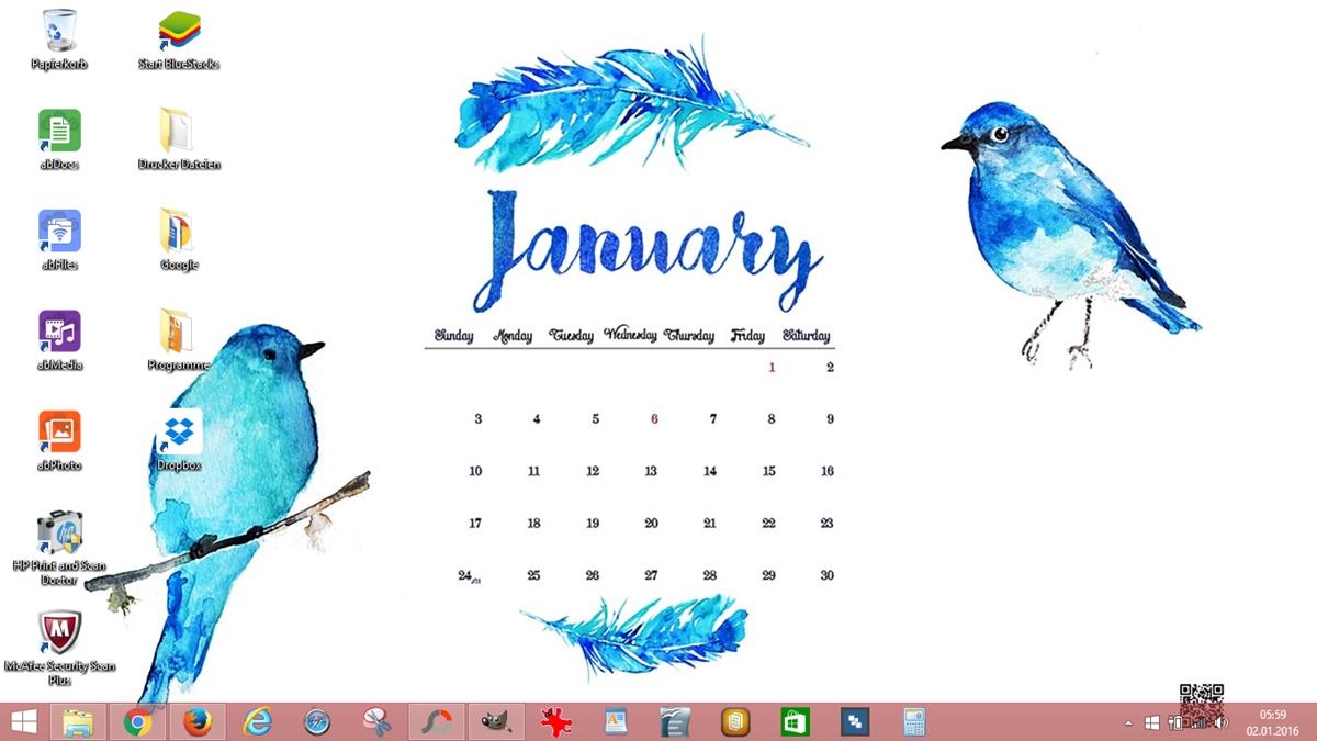 Screenshot Desktop Calender