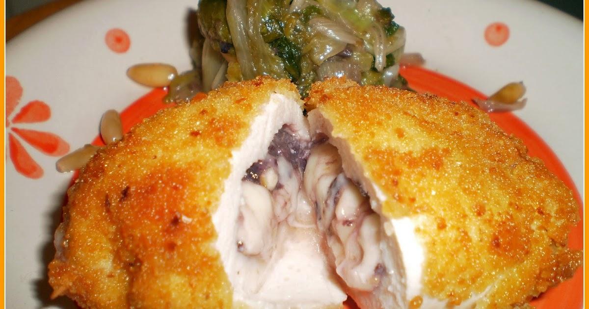 Cucina pasticci involtini di pollo con emmental noci ed olive con contorno di scarola con - Cucina e pasticci ...
