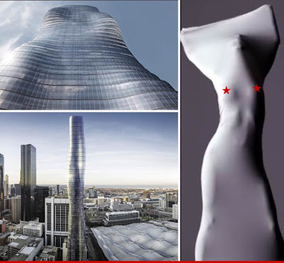 Beyonce's Ghost pose turned into a building design