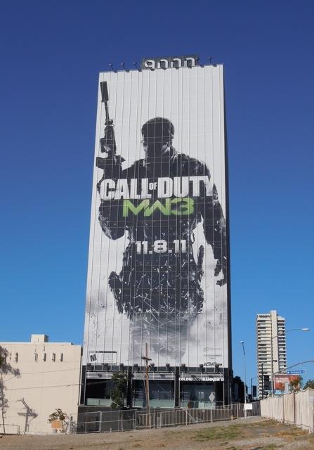 Giant Call of Duty MW3 billboard