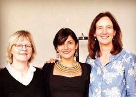 Jytte Agergaard y katherine Gough, Directoras de la Tesis Doctoral en los extremos y en el medio la Profesora Irene Vélez