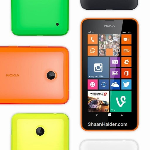 Nokia Lumia 630 and Lumia 635 : Full Specs and Features