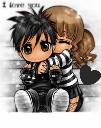 emo anime love drawings. Cute emo Anime love