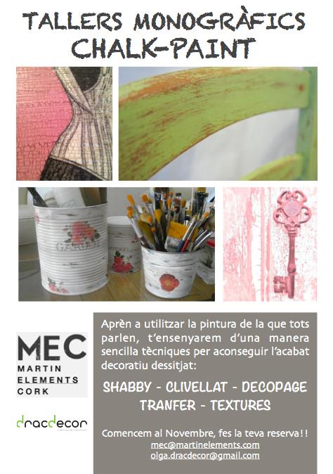 Talleres monográficos ChalkPaint en MEC Palamós