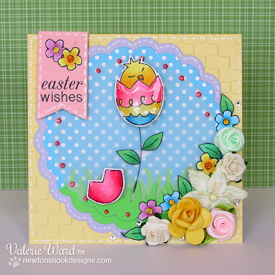Easter card by Valerie Ward for Newton's Nook Designs - Easter Scramble Stamp set