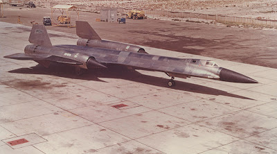 OXCART - First titanium plane on a tarmac