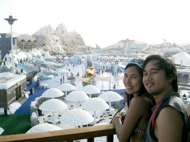 view from Boomerangoo at Ice Land Water Park Ras Al Khaimah