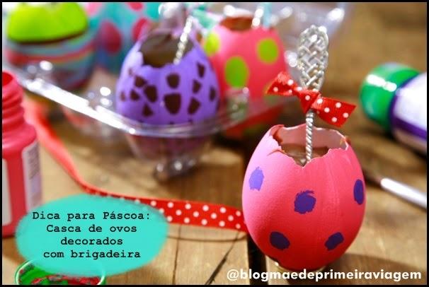 Dica para Páscoa: Casca de ovos decorados com brigadeira