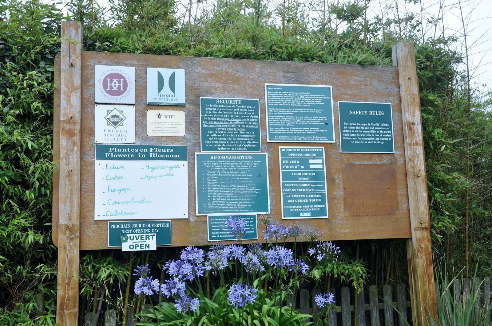 Summer in French Gardens Garden Map