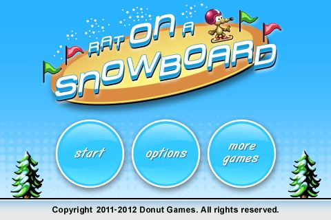Rat On A Snowboard Free App Game By Donut Games